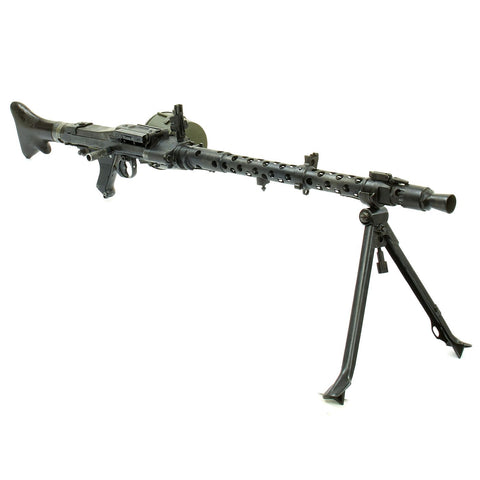 Original German WWII MG 34 Display Machine Gun by Mauser with Bakelite Butt Stock dated 1939 Original Items