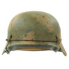 show larger image of product view 3 : Original German WWII M40 Refurbished Double Decal Normandy Camouflage SS Helmet - marked EF66 Original Items