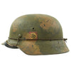 show larger image of product view 2 : Original German WWII M40 Refurbished Double Decal Normandy Camouflage SS Helmet - marked EF66 Original Items