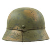 show larger image of product view 6 : Original German WWII M40 Refurbished Double Decal Normandy Camouflage SS Helmet - marked EF66 Original Items