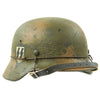show larger image of product view 8 : Original German WWII M40 Refurbished Double Decal Normandy Camouflage SS Helmet - marked EF66 Original Items