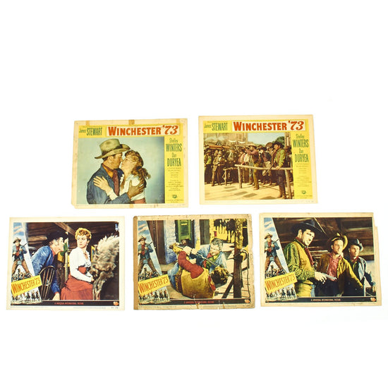 Original U.S. Vintage Winchester '73 James Stewart Film Lobby Card Collection Original Items