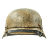 "show larger image of product view 3 : Original German WWII Refurbished M40 13th SS ""Handschar"" (1st Croatian Division) Winter Helmet - ET66 Original Items"