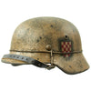 "show larger image of product view 4 : Original German WWII Refurbished M40 13th SS ""Handschar"" (1st Croatian Division) Winter Helmet - ET66 Original Items"