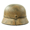 "show larger image of product view 6 : Original German WWII Refurbished M40 13th SS ""Handschar"" (1st Croatian Division) Winter Helmet - ET66 Original Items"