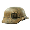 "show larger image of product view 2 : Original German WWII Refurbished M40 13th SS ""Handschar"" (1st Croatian Division) Winter Helmet - ET66 Original Items"
