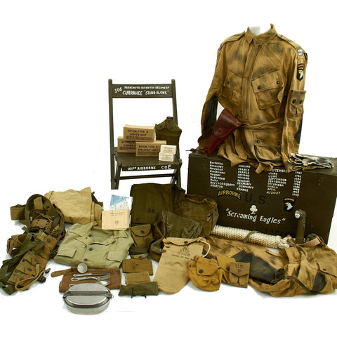 U.S. WWII 101st Airborne 506th PIR Band of Brothers Historical Reenactor Impression Uniform and Accessories New Made Items