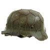 show larger image of product view 4 : Original German WWII Refurbished M40 Heer Double Decal Chicken Wire Helmet with Original Paint - Stamped EF66 Original Items