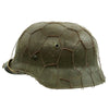 show larger image of product view 2 : Original German WWII Refurbished M40 Heer Double Decal Chicken Wire Helmet with Original Paint - Stamped EF66 Original Items