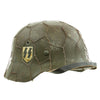 show larger image of product view 7 : Original German WWII Refurbished M40 Heer Double Decal Chicken Wire Helmet with Original Paint - Stamped EF66 Original Items
