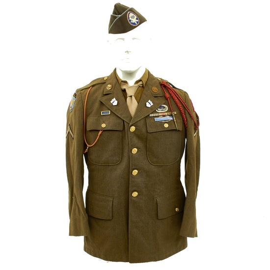 Original U.S. WWII Named D-Day Invasion 325th Glider Infantry Regiment Uniform Grouping Original Items