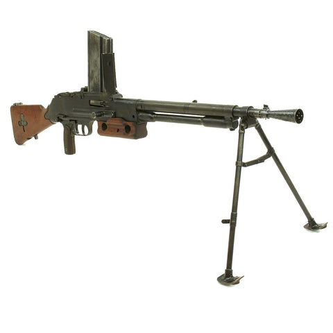 Original French WWII Fusil-mitrailleur Modèle 1924 M29 Display LMG with Magazine - Serial 42338 Original Items