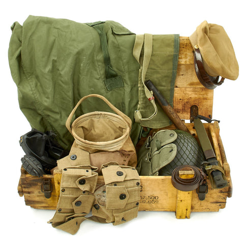 Trunk of Assorted Grade 2 Original Military Antiques and Reproductions - Box 96 Original Items