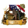 show larger image of product view 1 : Trunk of Assorted Grade 2 Original Military Antiques and Reproductions - Box 108 Original Items