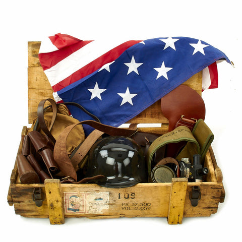 Trunk of Assorted Grade 2 Original Military Antiques and Reproductions - Box 109 Original Items
