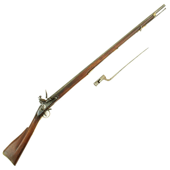 Original British East India Company Windus Pattern Brown Bess Flintlock Officer's Fusil with Bayonet - c. 1808 Original Items