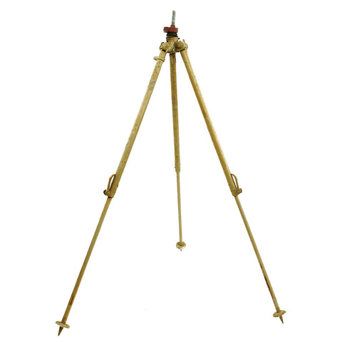 Original German WWII Optics & Machinegun Sand Color Tripod by Eugen Ising - Waffenamt Marked Original Items