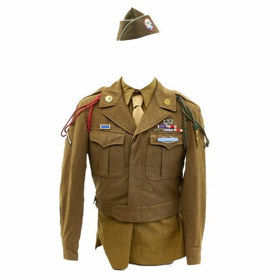 Original U.S. WWII D-Day 507th Parachute Infantry Regiment (507th PIR) Named Uniform Grouping - Documented Operation Neptune and Varsity Jumps Original Items