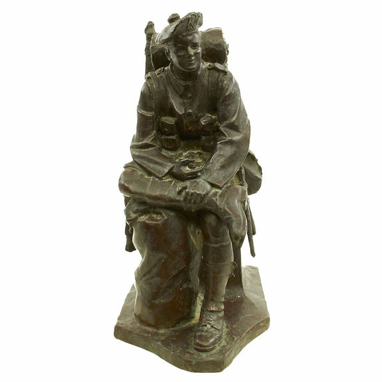 "Original WWI Canadian Seaforth Highlanders Bronze Sculpture ""Blighty"" by Robert Tait McKenzie Original Items"