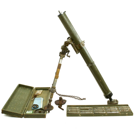 Original U.S. WWII 81mm Mortar with Subcaliber .22cal Trainer Device 3-F-8 Original Items