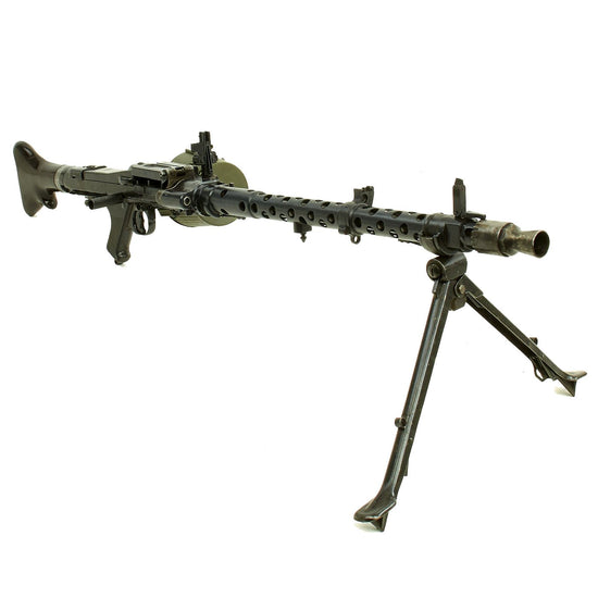 Original German WWII MG 34 Display Machine Gun by Steyr Werk with Bakelite Butt Stock - dated 1941 Original Items