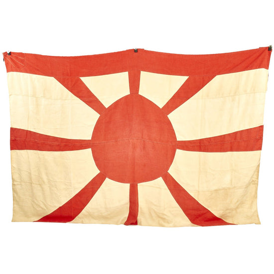 "Original Imperial Japanese WWII Navy Vice Admiral Canvas Rising Sun Flag - 64"" x 96"" Original Items"