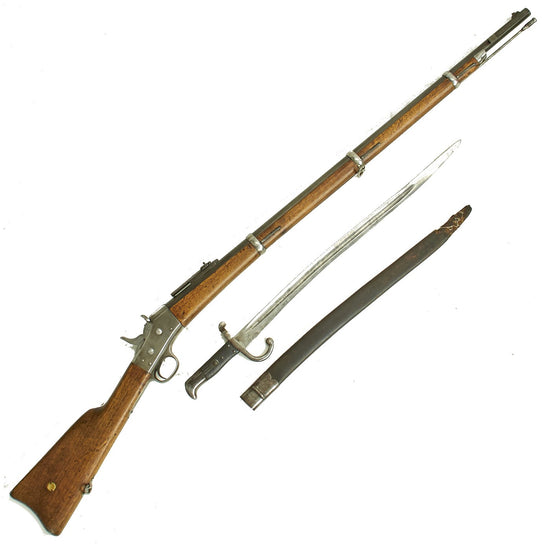 Original Danish M1867/96 Remington Rolling Block Rifle dated 1882 with Saber Bayonet - Serial 60787 Original Items