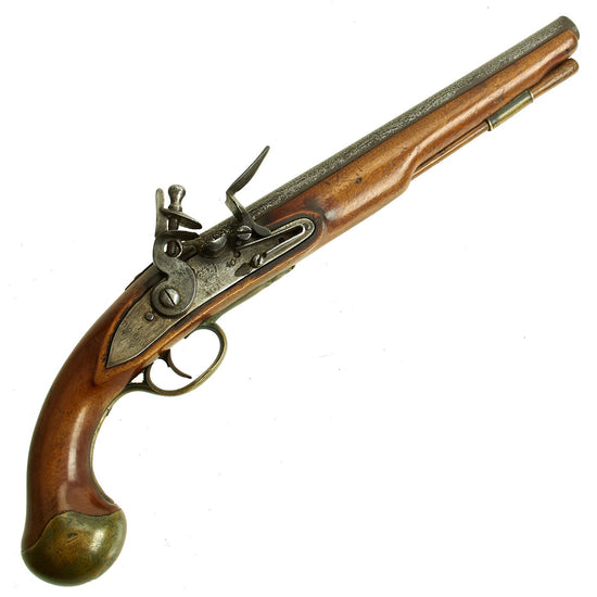Original British Officers Flintlock Pistol by Bumford with Single Screw Behind the Hammer - dated 1755 Original Items
