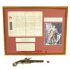 show larger image of product view 2 : Original Revolutionary War British Captain Philip Skene Royal Commission and Brass Barrel Flintlock Pistol with Carnelian Intaglio Seal Ring Original Items