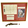 show larger image of product view 1 : Original Revolutionary War British Captain Philip Skene Royal Commission and Brass Barrel Flintlock Pistol with Carnelian Intaglio Seal Ring Original Items