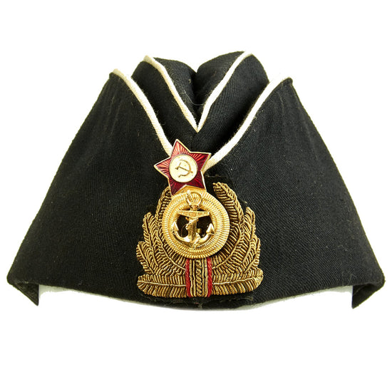 Original Soviet Cold War Navy Officer Pilotka Side Cap Original Items