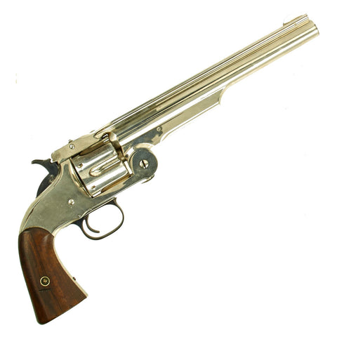 Original Excellent U.S. Smith & Wesson Nickel-Plated First Model Russian No. 3 Revolver in .44 Russian - Serial 14564 Original Items