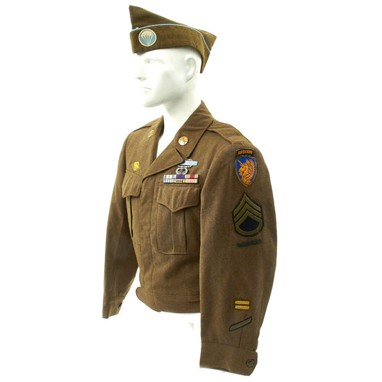 Original U.S. WWII 513th Parachute Infantry Regiment Silver Star Named Uniform Grouping