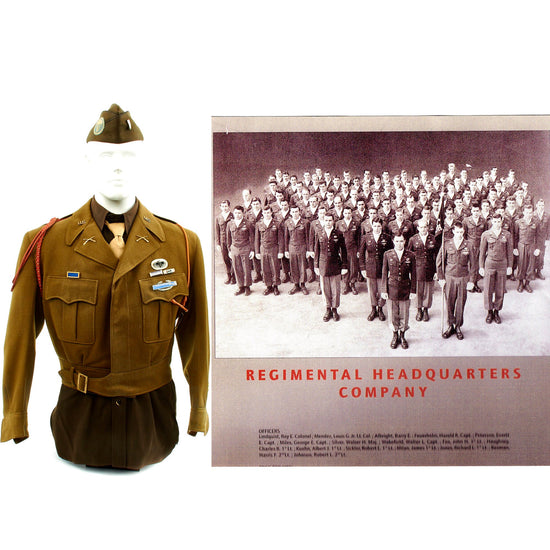 Original U.S. WWII 508th Parachute Infantry Regiment WIA Named Officer Grouping Original Items