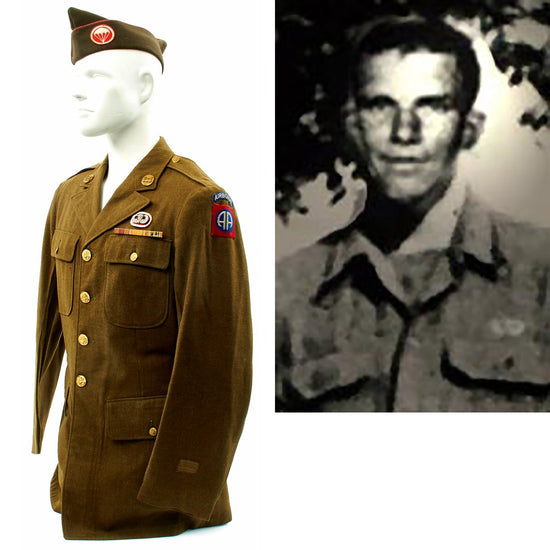 Original U.S. WWII D-Day POW KIA 307th Airborne Engineer Battalion Named Service Coat Original Items