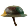 "show larger image of product view 4 : Original U.S. WWI M1917 30th Division Doughboy Helmet with Trench Art Panel Camouflage Paint - ""Old Hickory"" Original Items"