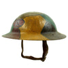 "show larger image of product view 5 : Original U.S. WWI M1917 30th Division Doughboy Helmet with Trench Art Panel Camouflage Paint - ""Old Hickory"" Original Items"