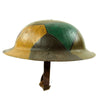 "show larger image of product view 6 : Original U.S. WWI M1917 30th Division Doughboy Helmet with Trench Art Panel Camouflage Paint - ""Old Hickory"" Original Items"