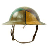 "show larger image of product view 7 : Original U.S. WWI M1917 30th Division Doughboy Helmet with Trench Art Panel Camouflage Paint - ""Old Hickory"" Original Items"
