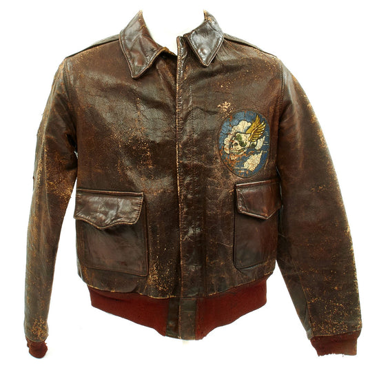 Original U.S. WWII P-47 Thunderbolt Pilot Named A-2 Flight Jacket - 85th Fighter Squadron