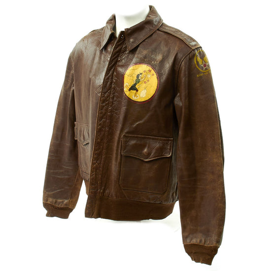 Original U.S. WWII 817th Bomb Squadron Officer Painted A-2 Flight Jacket