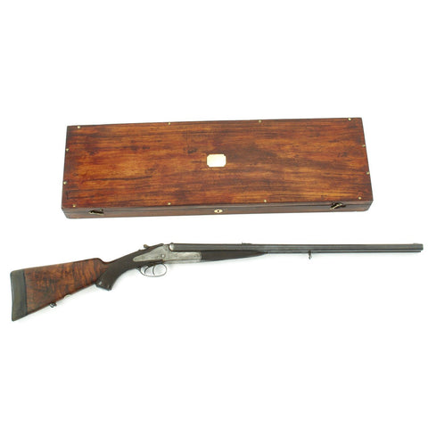 Original British 1889 Cased Double Barrel Holland & Holland Dominion .500 Express Big Game Rifle - Serial 12339 Original Items