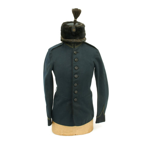 Original British King's Royal Rifle Volunteer Regiment Tunic and Fur Busby circa 1902
