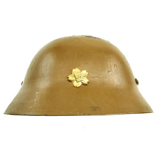 Original Imperial Japanese Army WWII Type 90 Civil Defense Helmet with Emblem Original Items