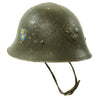 show larger image of product view 2 : Original Swedish WWII Era M21 High Top Steel Helmet with Liner and Chinstrap Original Items