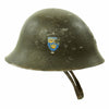 show larger image of product view 3 : Original Swedish WWII Era M21 High Top Steel Helmet with Liner and Chinstrap Original Items