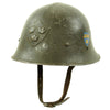 show larger image of product view 5 : Original Swedish WWII Era M21 High Top Steel Helmet with Liner and Chinstrap Original Items
