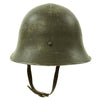 show larger image of product view 8 : Original Swedish WWII Era M21 High Top Steel Helmet with Liner and Chinstrap Original Items