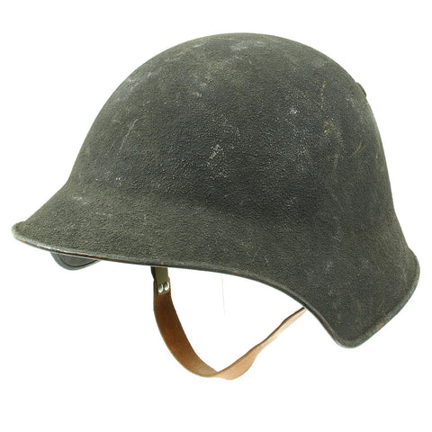 Original Swiss WW2 M18/43 Steel Combat Helmet with 3/4 Ring Liner - Excellent Condition Original Items