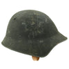 show larger image of product view 4 : Original Swiss WW2 M18/43 Steel Combat Helmet with 3/4 Ring Liner - Excellent Condition Original Items